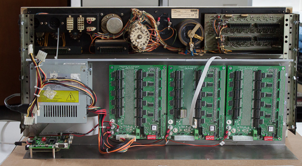 PDP-10 KI10 panel, BlinkenBone electronics layout