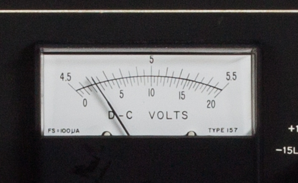 PDP-10 KI10 upper Maintenance Panel volt meter