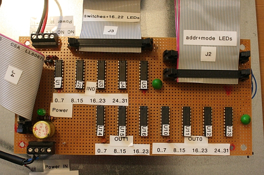 pdp1170panel usb rasterboard front